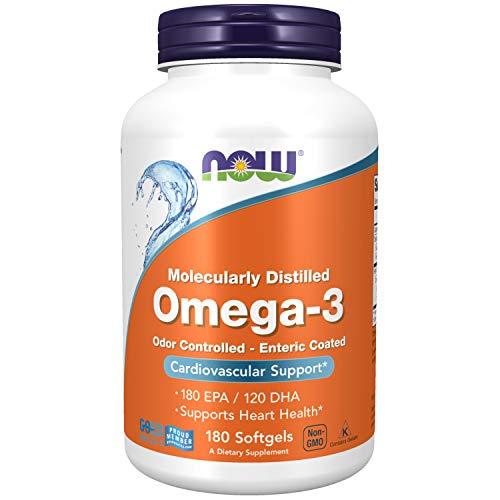 NOW Foods - Omega - 3 180 EPA / 120 DHA - 180 Cápsulas gelatinosas