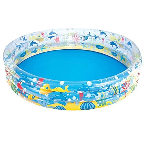 ABOOFAN Ozean Stil Aufblasbare Schwimmen Pool Haushalt Badewanne Schwimmbad Faltbare Wasser Matratze für Kinder Outdoor Indoor (15. 2X30cm)