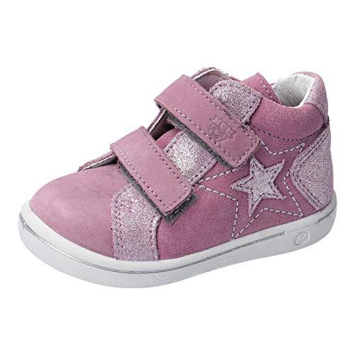 RICOSTA Mädchen Lauflern Schuhe MIA von Pepino, Weite: Mittel (WMS), verspielt detailreich leger Halbschuh mit flexibel Kids,Purple,24 EU / 7 Child UK