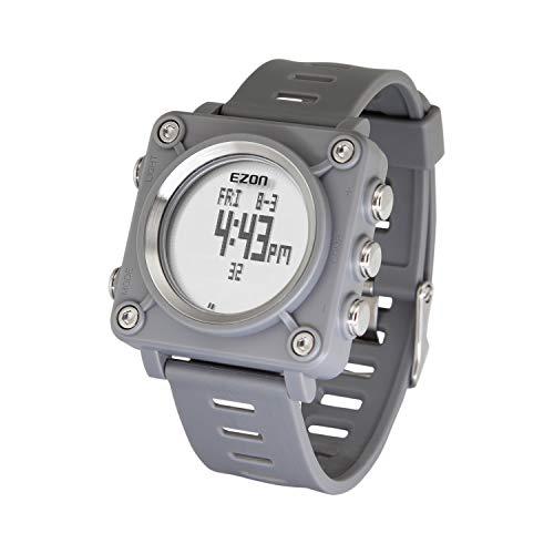 EZON Digitale Sportuhr mit Kompass L012, grau