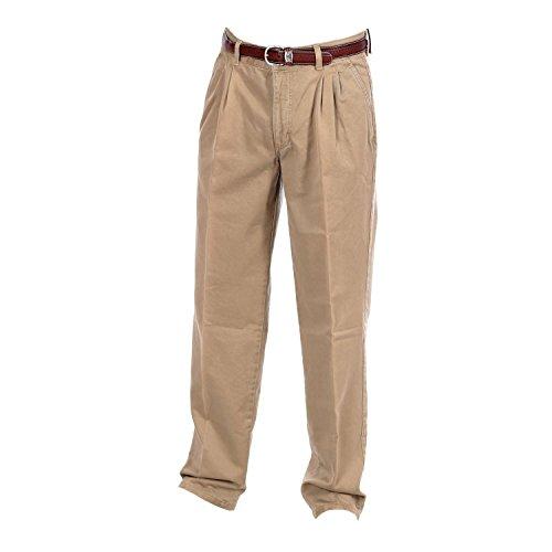 Pioneer Herrenhose / Männer Hose 1163 Regular Fit 0343 23 mit Gürtel - Beige, Größe:W32/L32