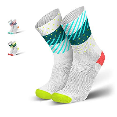 INCYLENCE Wildness Sportsocken lang, leichte Running Socks, atmungsaktive Funktionssocken mit Anti-Blasen Schutz, Socken, 43-46