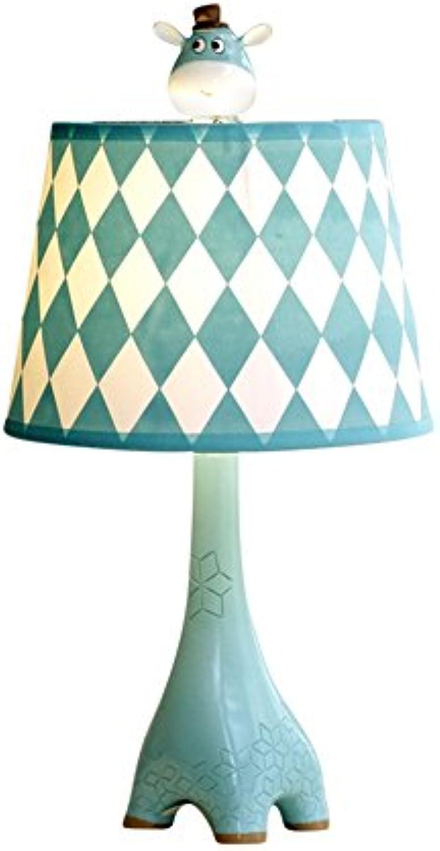 XiuXiu Kinderzimmer Cartoon Blau Giraffe Tischlampe Schlafzimmer Nachttischlampe Moderne Mode Nette Warme Junge Mdchen Dekorative Tischlampe (Gre   Large)