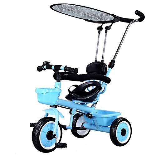 YUMEIGE driewieler driewieler voor kinderen met veiligheidshek in U-vorm 1-6 jaar verjaardagscadeau voor kinderen kinderwagen voor peuters trike gewicht 25 kg (kleur: blauw, rood, wit)