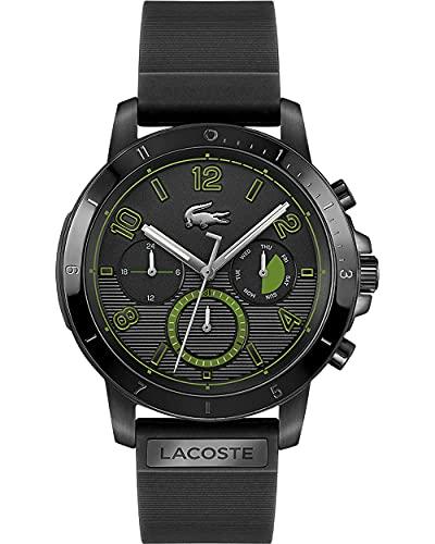 Lacoste Mens Multi Zifferblatt Quartz Uhr mit Silikon Armband 2011121