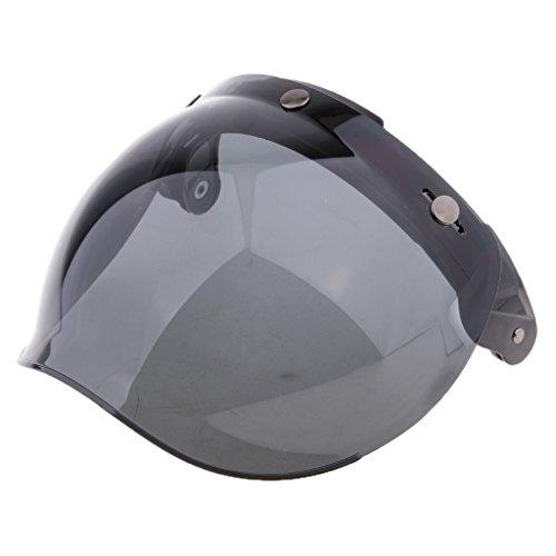 Dolity 1 Stück 3-Snap Bubble Windschild Visier Flip Up Ersatz Visier Schutzschild Blasenschild für Motorradhelme - 7
