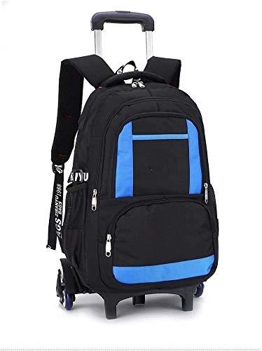no bran Backpack Backpack School Bags Boys And Girls Backpack Shoulder Bag Large Capacity, Lightweight Backpack Simple (Color : Blue, Size : Free size)