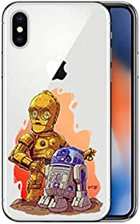 5ba8553a9d9 Art Design Funda para iPhone X/iPhone XS Star Wars Maestro Yoda Dark Vador  Father