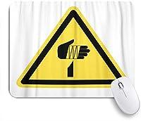 NIESIKKLAマウスパッド 黄色の警告警告シャープ記号シンボルカットハザード事故 ゲーミング オフィス最適 高級感 おしゃれ 防水 耐久性が良い 滑り止めゴム底 ゲーミングなど適用 用ノートブックコンピュータマウスマット