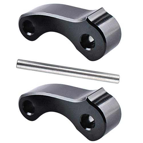Gekufa Billet Aluminum Rear Window Latch Hinge Pivots Compatible with 1995-2004 Toyo-ta Tacoma 2000-2006 Tundra Xtracab 2pcs (Black)