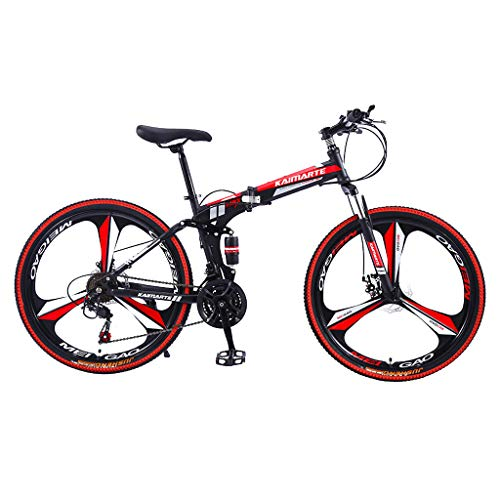 Hmazy [Fast Shipment] 26in Carbon Steel Mountain Bike Shimanos21 Speed Bicycle Full Suspension MTB Mountian Bikes, Best Gift for Friends