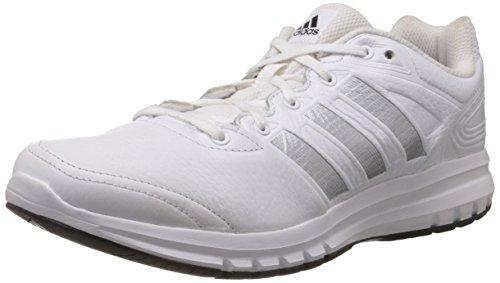 adidas Herren Duramo 6 Lea Laufschuhe, Weiß (Running White FTW/Metallic Silver/Black 1), 46 EU