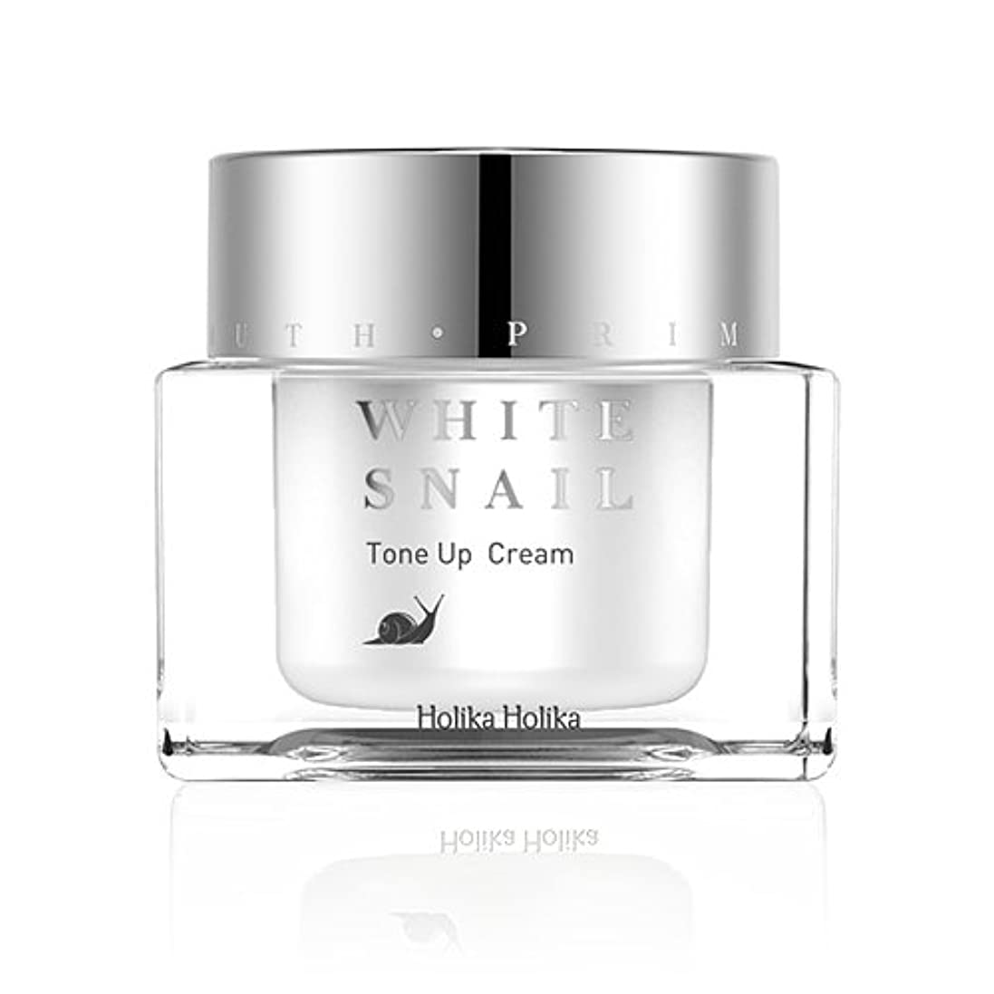 咽頭め言葉円形のHolikaHolika(ホリカホリカ) Prime Youth White Snail Tone-Up Cream プライムユースホワイトスネイルトーンアップクリーム カタツムリ エスカルゴ [並行輸入品]