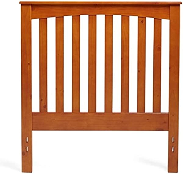 Mantua Rake Style Wood Headboard Golden Oak Twin