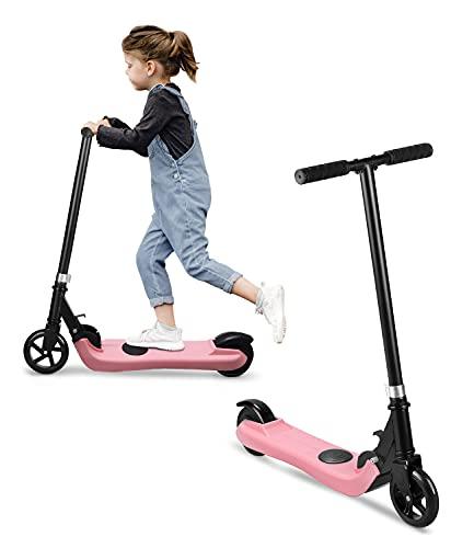 Riding'times Patinete eléctrico para niños, Scooter Plegable, hasta 6km/h, 5km, Motor 120W, Tiempo de Carga 2H, para niños y niñas de 5 a 12 años 🔥
