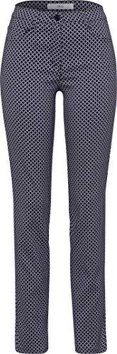 BRAX Damen Style Shakira Jacquard Hose, Navy, W32/L32