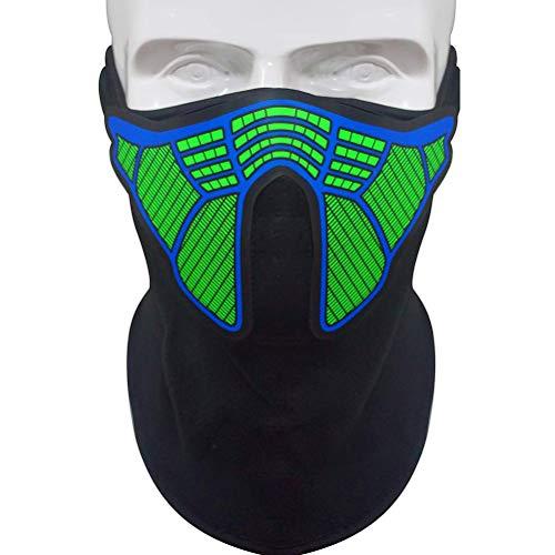 Mallalah Máscara de música LED, máscara reactiva de Sonido para la música en Festivales y Fiestas (D)