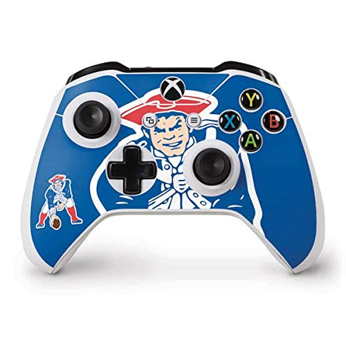 Skinit Decal Gaming Skin Compatible with Xbox One S Controller - Officially Licensed NFL New England Patriots Retro Logo Design