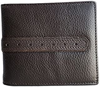 Men 100% Genuine Cow Leather Bifold ID Card Coin Holder Business Coffee Wallet