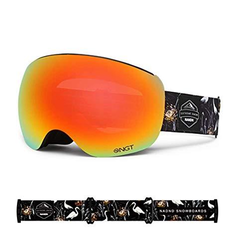 JayQm skibril, sneeuwbril Snowboarden over bril bril - UV400 bescherming en anti-mist voor schaatsen skiën voor mannen, vrouwen, jeugd of kinderen