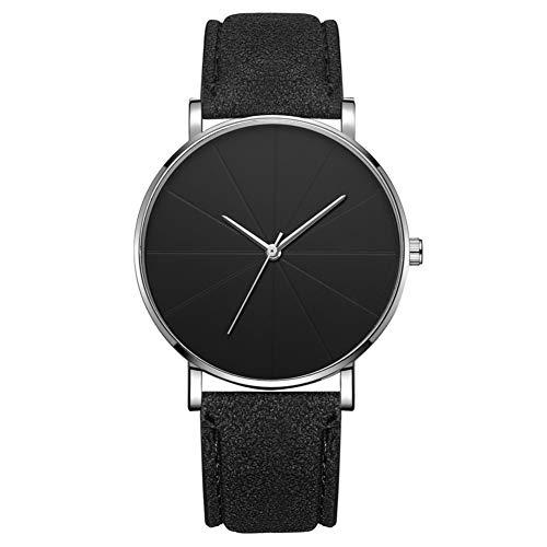Reloj de moda simple Dial redondo Pantalla analógica Reloj de pulsera de cuarzo Accesorio de joyería Reloj de pulsera para hombres (# 5)