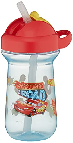 The First Years Disney/Pixar Cars Flip-Top Toddler Sippy Cup with Straw, 10 Ounce