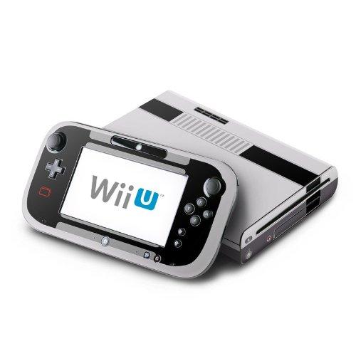Skins4u Konsolen Skin Aufkleber für Nintendo Wii U ( WiiU) Design Modding Schutz Folie Decal Vinyl Sticker Retro SNES Black