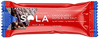 SOLA Chocolatey Nuts and Sea Salt Snack Bar, 38g (Pack of 12)
