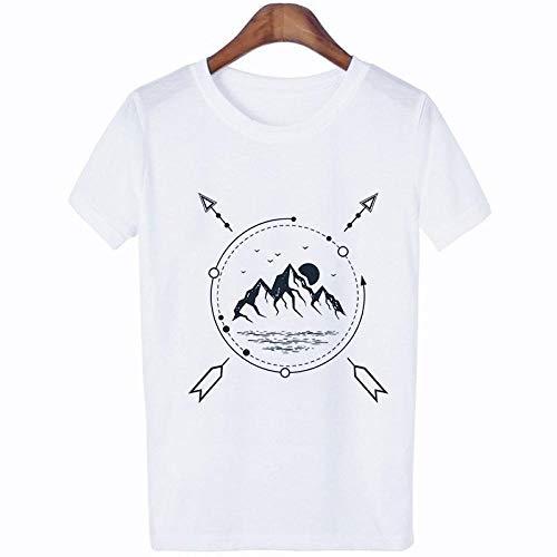 T-Shirt Femme T-Shirt Mode Streetwear Tshirt Hipster Esthétique Femmes Chemises T-Shirt S 1343