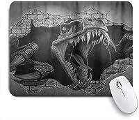 ZOMOY マウスパッド 個性的 おしゃれ 柔軟 かわいい ゴム製裏面 ゲーミングマウスパッド PC ノートパソコン オフィス用 デスクマット 滑り止め 耐久性が良い おもしろいパターン (恐竜のレンガの壁)