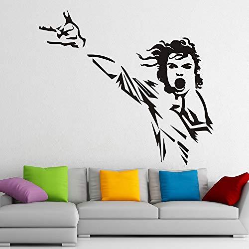 Leyenda Cantante Estrella del pop Michael Jackson Rock Música Danza Rey Etiqueta de la pared Vinilo Calcomanía del coche Ventiladores para niños Dormitorio Sala de estar Bar Club Estudio Decoraci