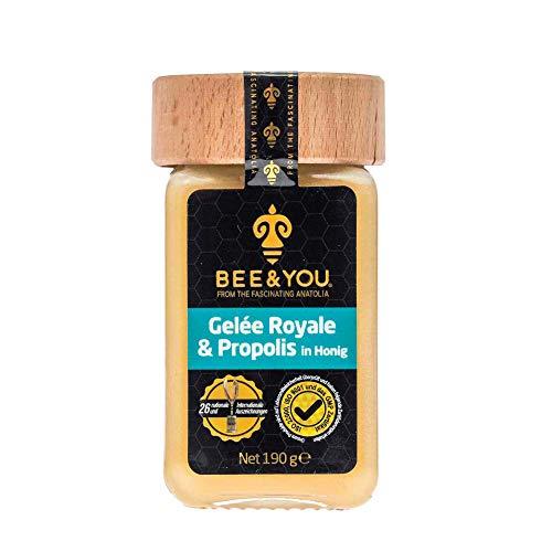Bee&You Gelee Royale & Propolis in Honig (Roher Honig, Fairer Handel, Natürliche & kontrollierte Zutaten)