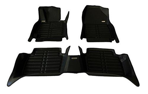 TuxMat Custom Car Floor Mats for Tesla Model 3 2017-2020 Models- Laser Measured, Largest Coverage, Waterproof, All Weather.The BestTesla Model 3 Accessory (Full Set - Black)