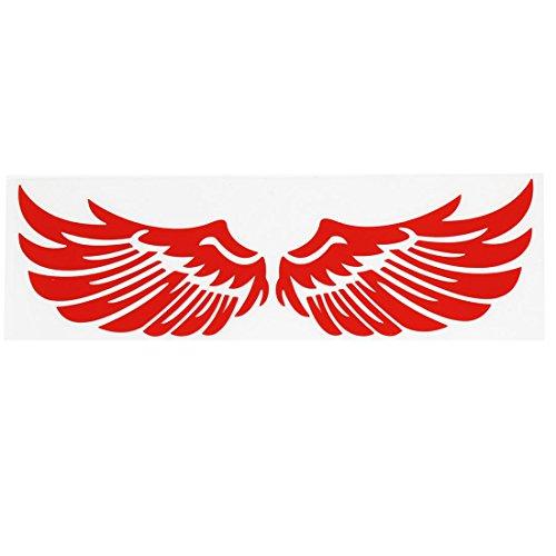 sourcing map Stilvoller, roter Engel, Flügel, für Auto/LKW-Dekor-Aufkleber, Vinyl de