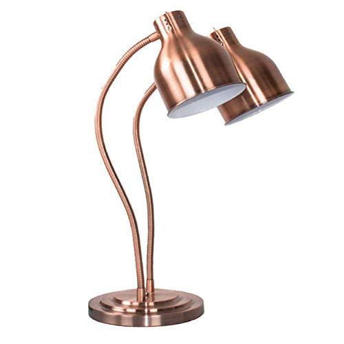 XYYHTL levensmiddelverwarming lamp, zelfbediening, levensmiddelen, houder, lamp, tentoonstellinglamp, commerciële draagbare dubbele kop, levensmiddelen, vochtigheidslamp, roestvrij staal
