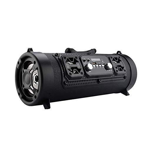 powered wireless speakers Wireless Bluetooth Speaker High-Power 15W Music Barrel Speaker Portable Waterproof High-Power Speaker Indoor Outdoor Loud Sound Music Playing Speaker (Black)