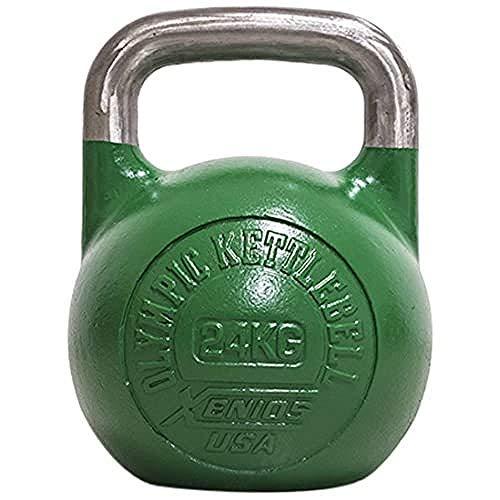 Xenios USA XSSTOKBL24, Russian Girevoy Competition Kettlebell Unisex, Verde, 24 kg