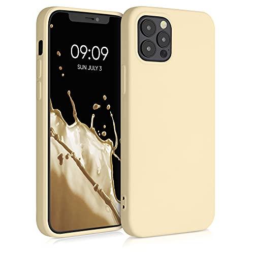 kwmobile Custodia Compatibile con Apple iPhone 12/12 PRO - Cover Silicone Gommato - Back Case Protezione Posteriore Cellulare - Tortora