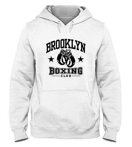 Sudadera con Capucha para Hombre Blanca WTC1094 Brooklyn Boxing