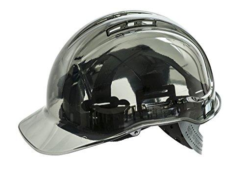 Workwear World WW336ventilato vedere attraverso traslucido Workwear casco di protezione (Smoke)