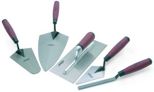Rolson Tools 52489 Maurerkellen-Set mit weichem Griff, 5-teilig
