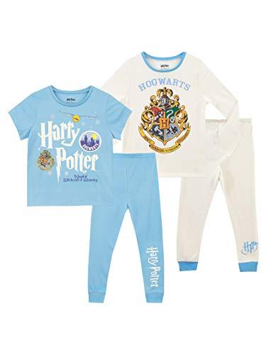 HARRY POTTER Pijamas para Niñas 2 Paquetes Hogwarts Multicolor 5-6 Años