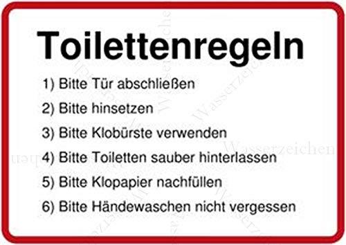 10cm! 3Stück!Aufkleber-Folie Wetterfest Made IN Germany WC Toilette Klo sauber halten Klobürste benutzen Toilettenregeln S949 UV&Waschanlagenfest-Auto-Sticker Decal Profi Qualität