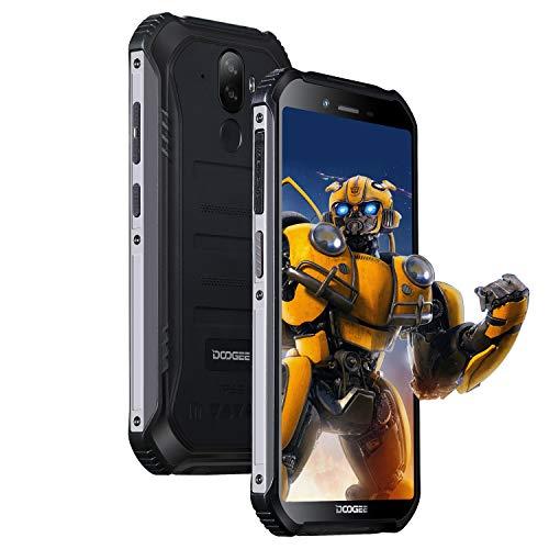 DOOGEE S40 LITE Outdoor Handy Android 9.0, IP68/IP69K Smartphone ohne Vertrag Wasserdicht 2GB+16GB, 5,5 Zoll Dual SIM 8MP+5MP Dual Kamera, 4650mAh Batterie, Fingerabdruck Gesicht ID, Schwarz