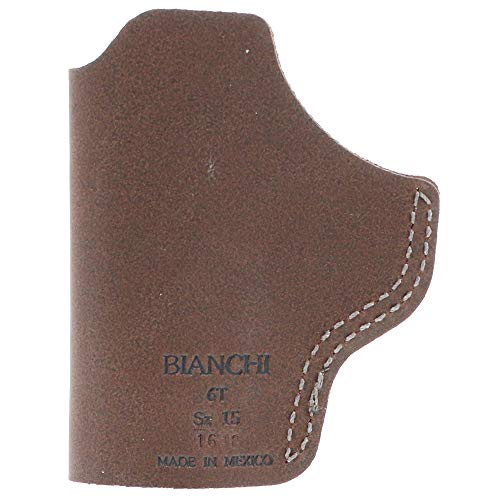 Bianchi model 6T (Tuckable) Size 15 Concealment Holster, Glock 43 Ruger LC9, S&W Shield, Sig Sauer P365, Springfield XDS, RH Tan