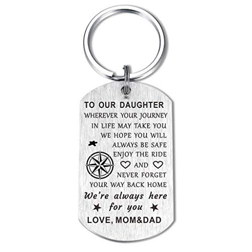 To My Son Daughter Love Gifts Keychain from Mom Dad, Son Engraved...