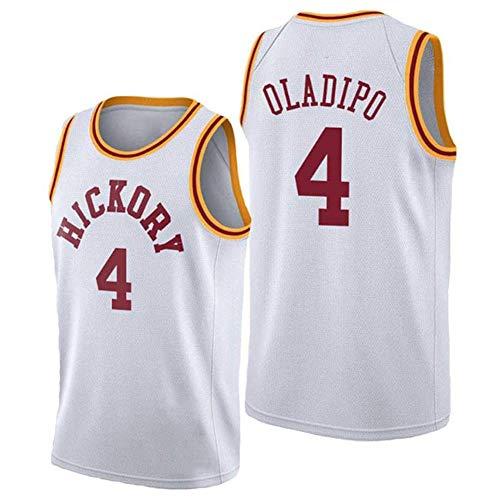Basketball Shirt 4# Victor Oladipo Indiana Pacers Trikots Retro Atmungsaktive Basketball Uniform Stickerei Swingman Jersey Tops Männer/Frauen T-Shirt Top Beste Geburtstagsgeschenk (S-XXL)-WhiteB-S