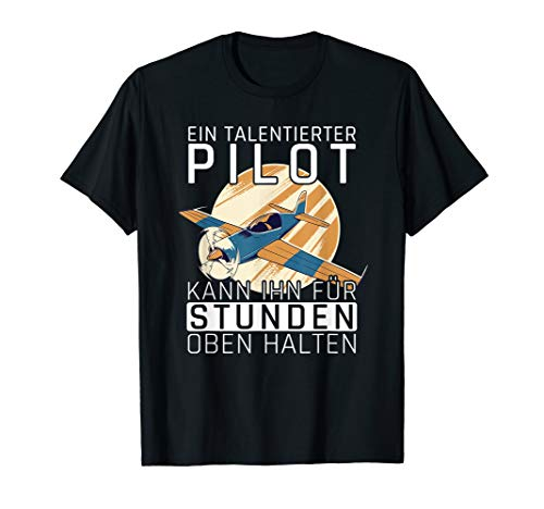 Modellbauer Flugzeug Pilot Kunstflug Modellflug Flugmodell T-Shirt