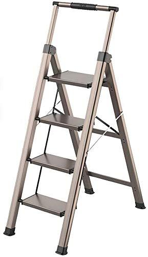SED Escaleras de tijera multiusos Escalera mecánica liviana para el hogar con manija telescópica Escalera plegable Refuerzo de la barra transversal Escalera portátil de un solo lado para limpieza int: Amazon.es: Bricolaje