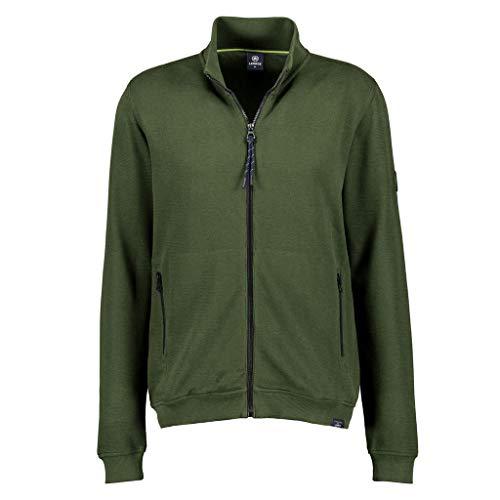 LERROS Herren Sweat Jacket Sweatshirt, Pine Green, XXL